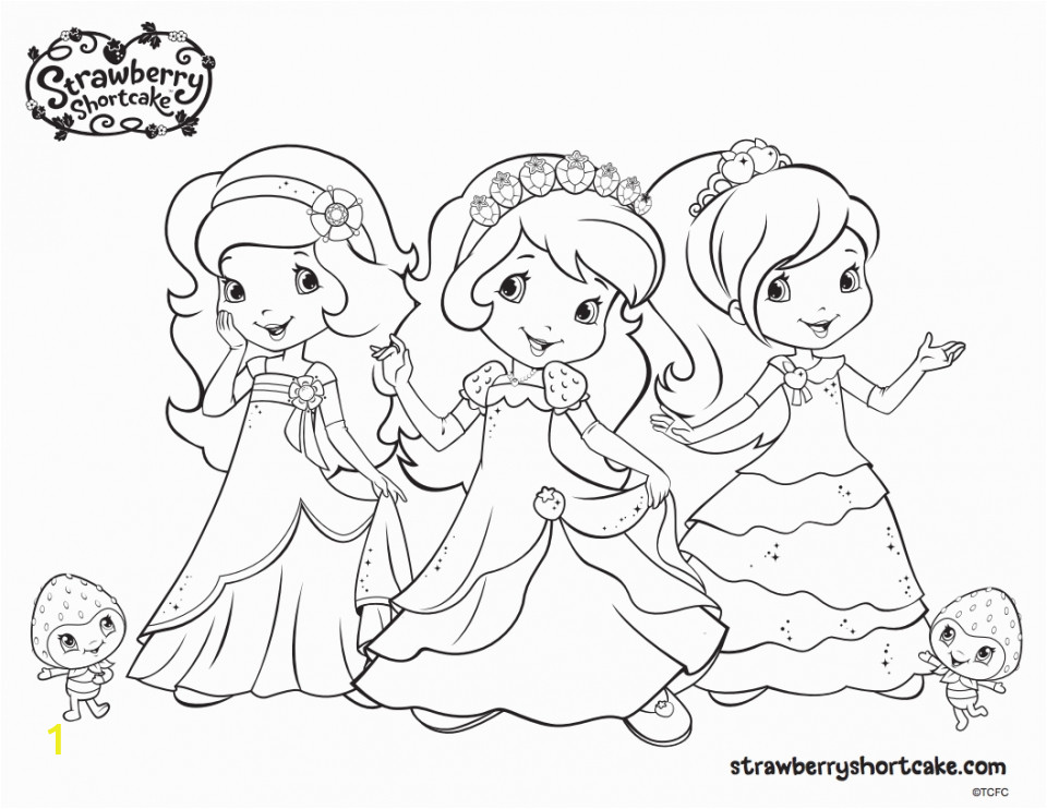 strawberry shortcake printable coloring pages