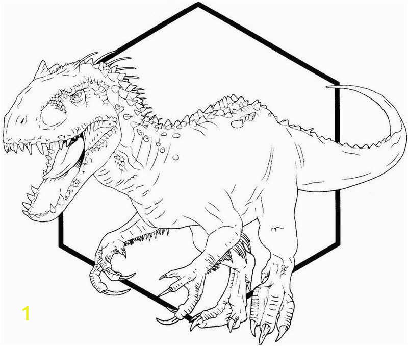 Printable T Rex Coloring Pages Indominus Rex Dino Coloring Printable Sheet