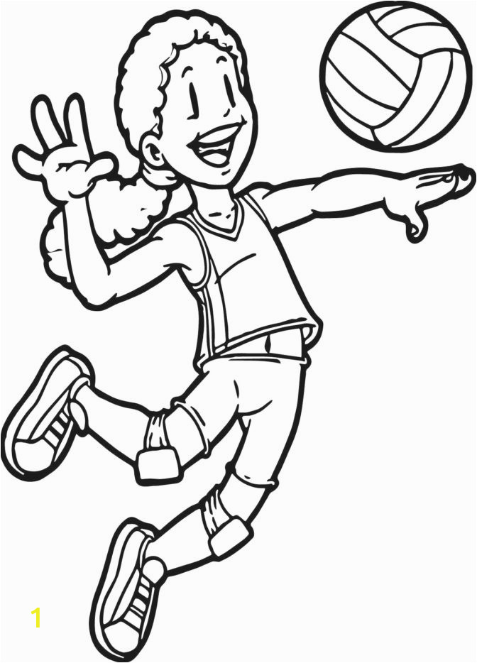 stunningports coloring pages photo ideas page free printable volleyball for kids book nfl helmets 672x934