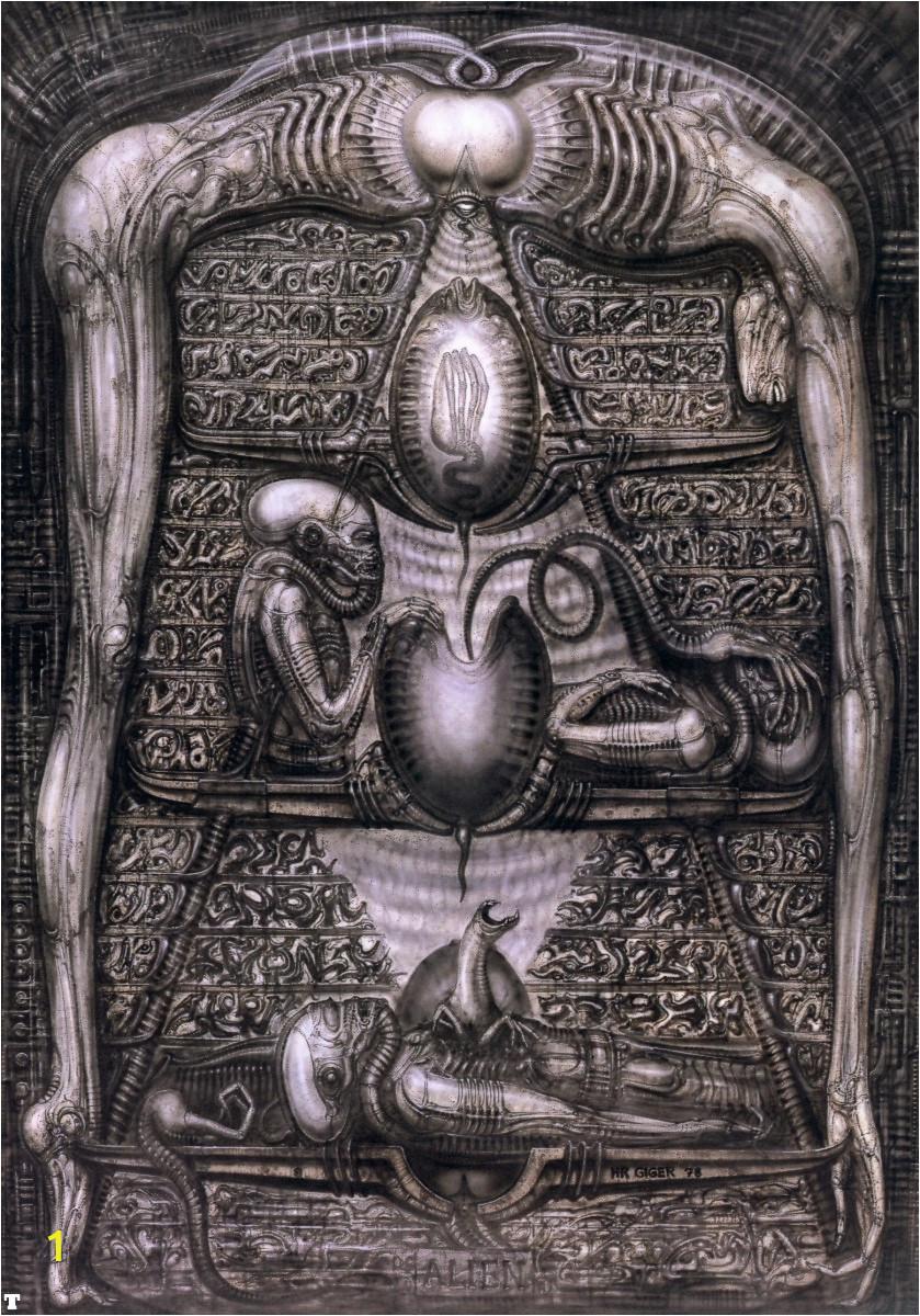 Prometheus Alien Wall Mural 1