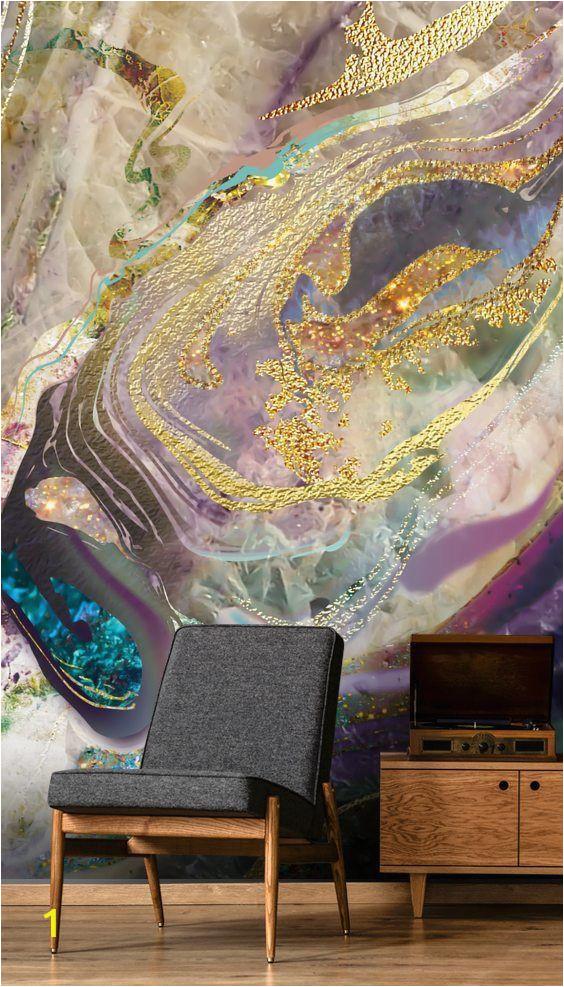 Purple Wall Murals Uk Gold Dust Purple In 2019 پتینه