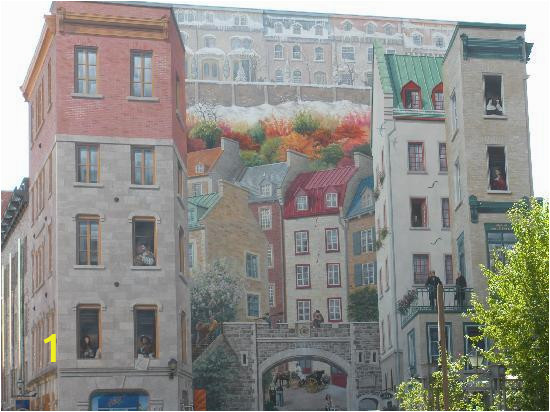 building mural in old