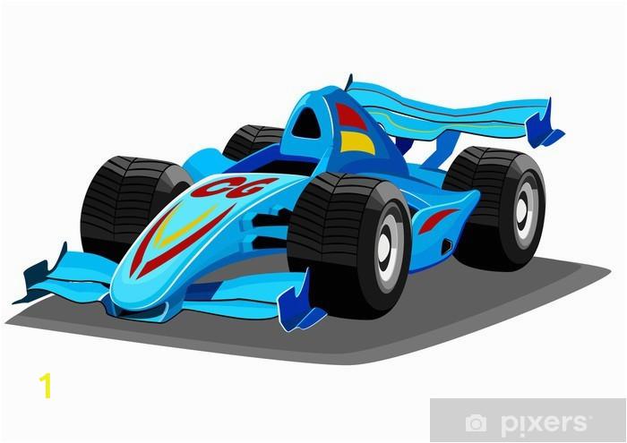 Racing Car Wall Mural Cartoon Racing Car Wall Mural Vinyl