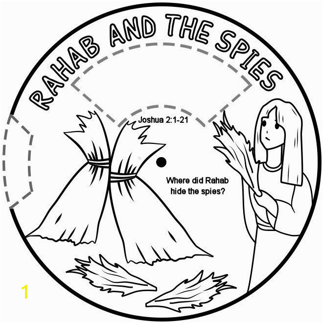 Rahab and Spies Coloring Page Rahab Hides the Spies