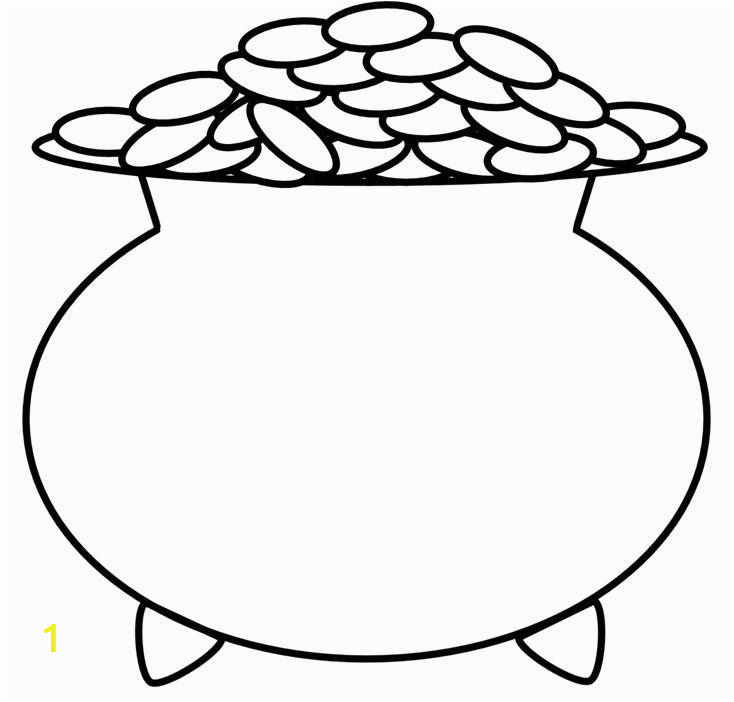 Rainbow and Pot Of Gold Coloring Page Blank Pot Gold Coloring Page Pages Imagixs Patrick Day