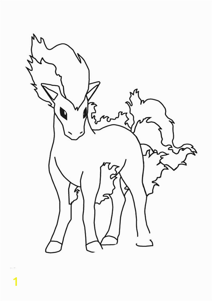 Rainbow Rangers Coloring Pages Ponyta Pokemon Coloring Page
