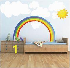 Rainbow Wall Mural Decal Rainbow Wall Decal Kids Bedroom Rainbows Rainbow Wall Art