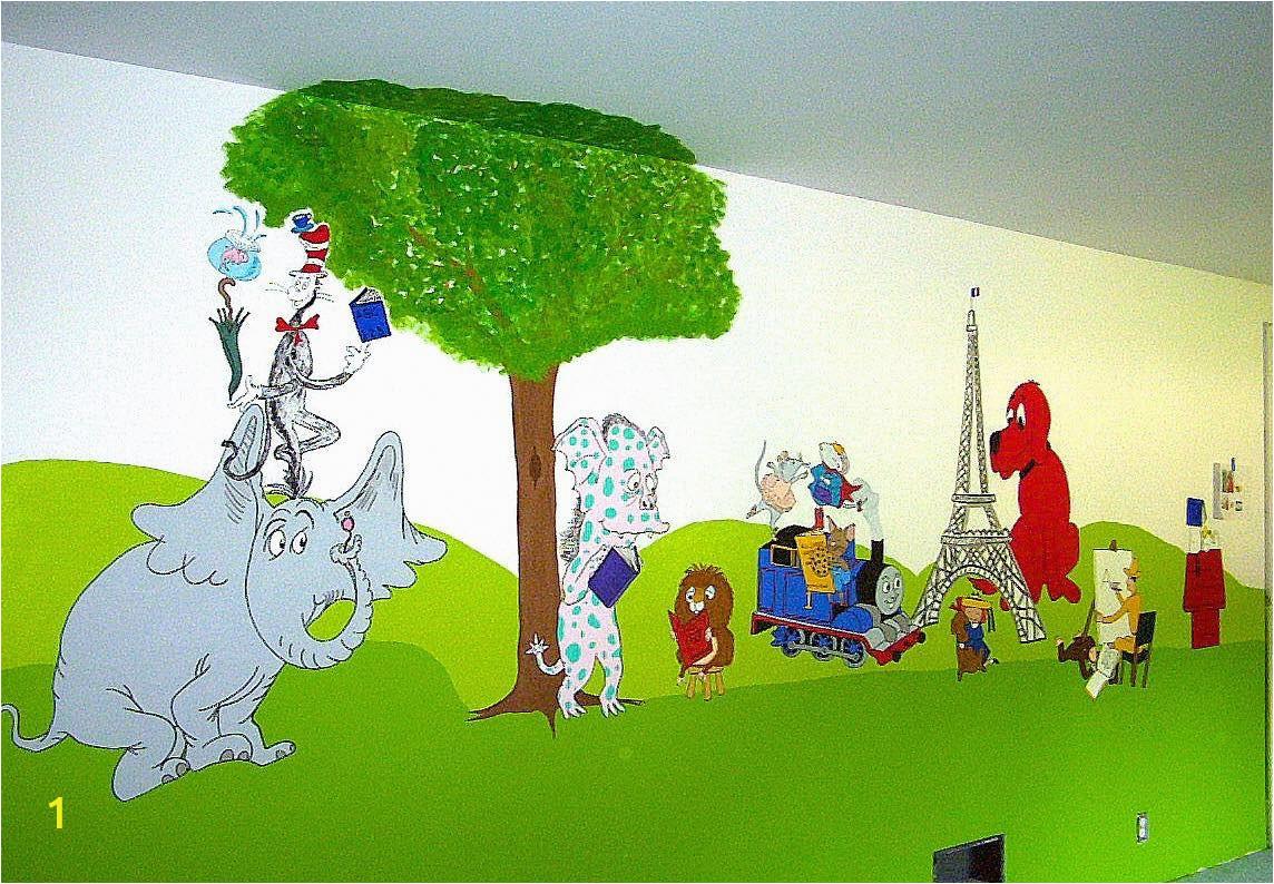 Rangers Fc Wall Mural Storybook Characters Mural