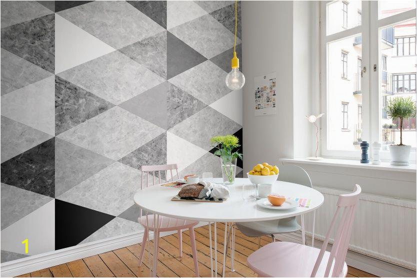 Rebel Walls Wallpaper Murals Geometric Marble Interior at Home