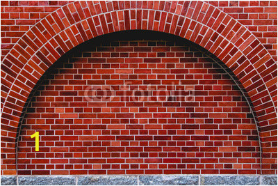 arch od red brick wall artistic background regular texture