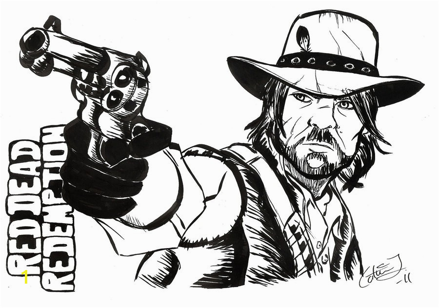 apocalypse drawing red dead redemption 1 in coloring pages