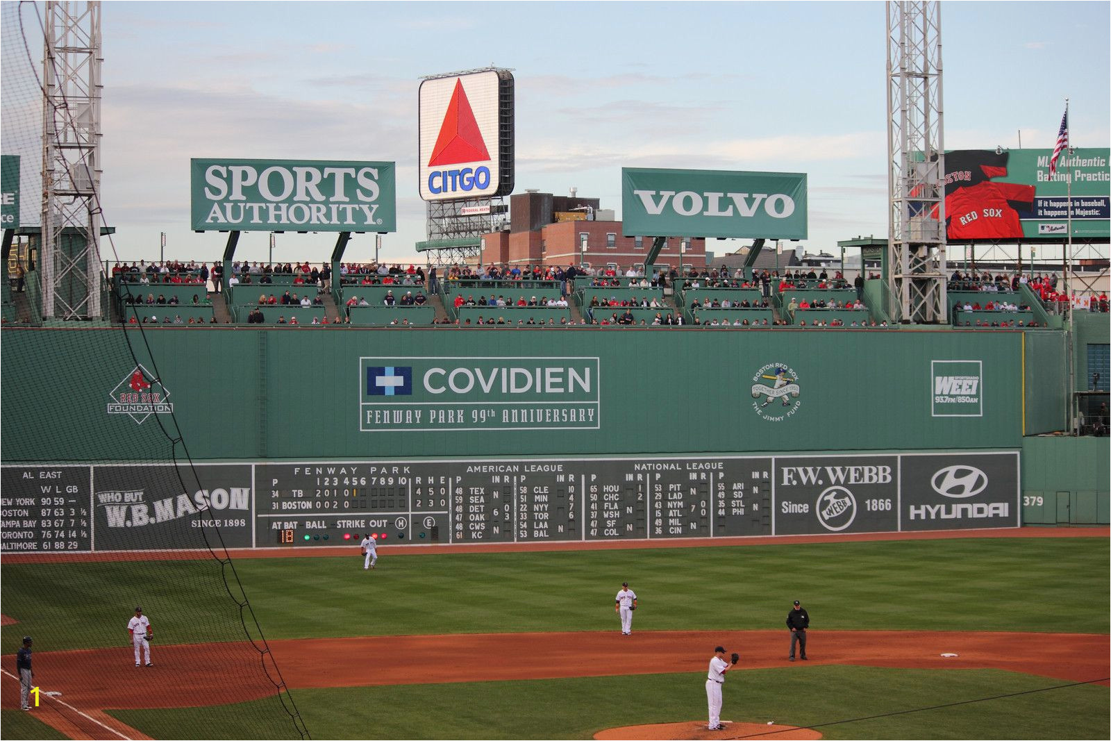 Red sox Green Monster Wall Mural Fenway Park Green Monster Citgo Sign Boston