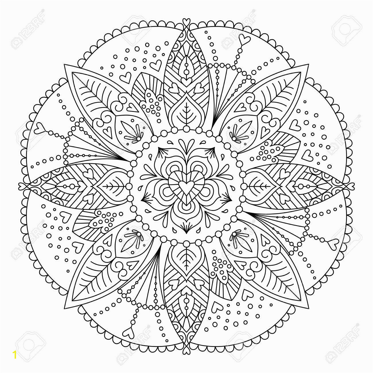 adult coloring page black and white for relaxation