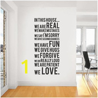 family house rules wall paper decals removable