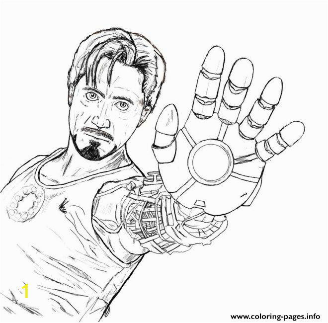 Tony Stark coloring page for boysaed6