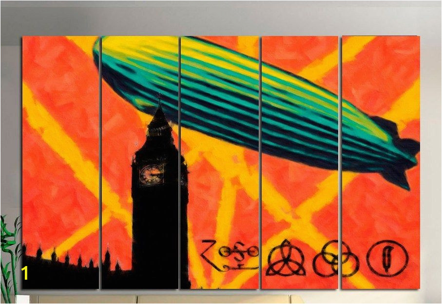Rock N Roll Wall Murals Rock N Roll Canvas Art Canvas Painting Led Zeppelin Wall