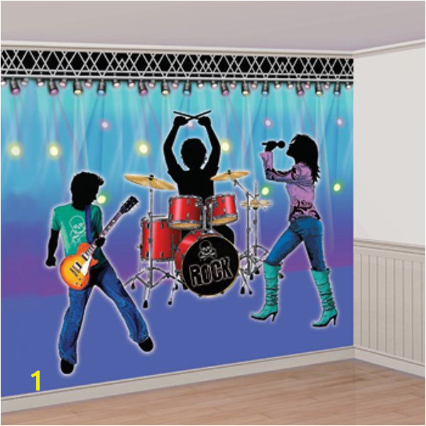 Rock Star Wall Murals Rock Star Band Wall Decorating Idea