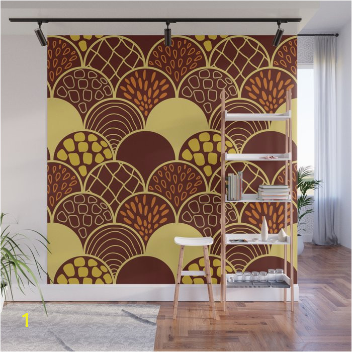 african terracotta scale wall murals