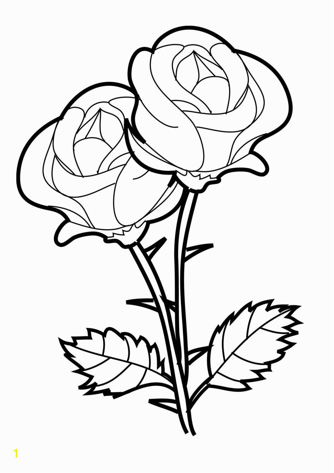 Rose Coloring Pages for Girls Flower Coloring Pages