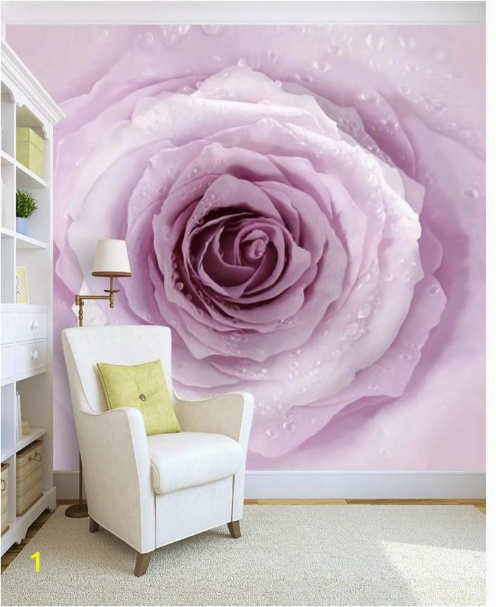 3d wall murals wallpaper Simple Purple Pink Rose Background Wall 3d customized wallpaper flower wallpaper