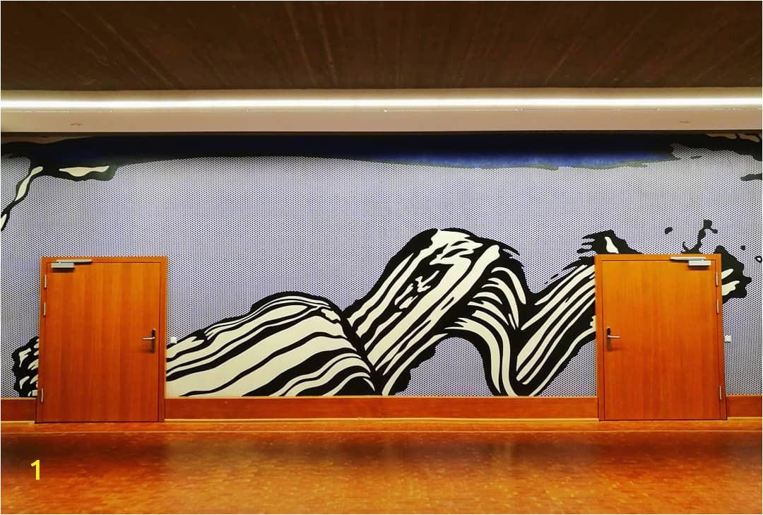 Roy Lichtenstein Germany University of Dusseldorf Brushstroke Mural 1970 3