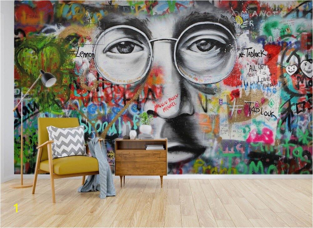 Self Adhesive 3D Beatles Graffiti 55 Wall Paper mural Wall Print Decal Wall Murals