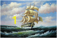 tall ship sailing 1 home decor handpainted