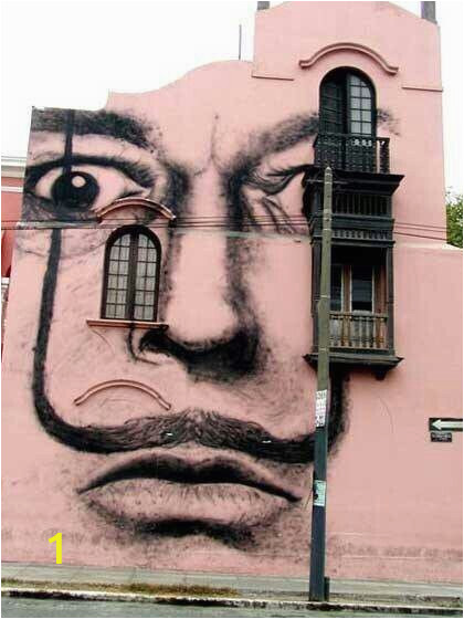 Salvador Dali Wall Mural Salvador Dali Art Painted On A Building