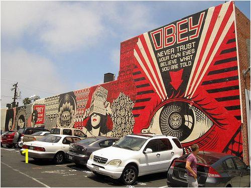 San Diego Wall Mural Obey San Go