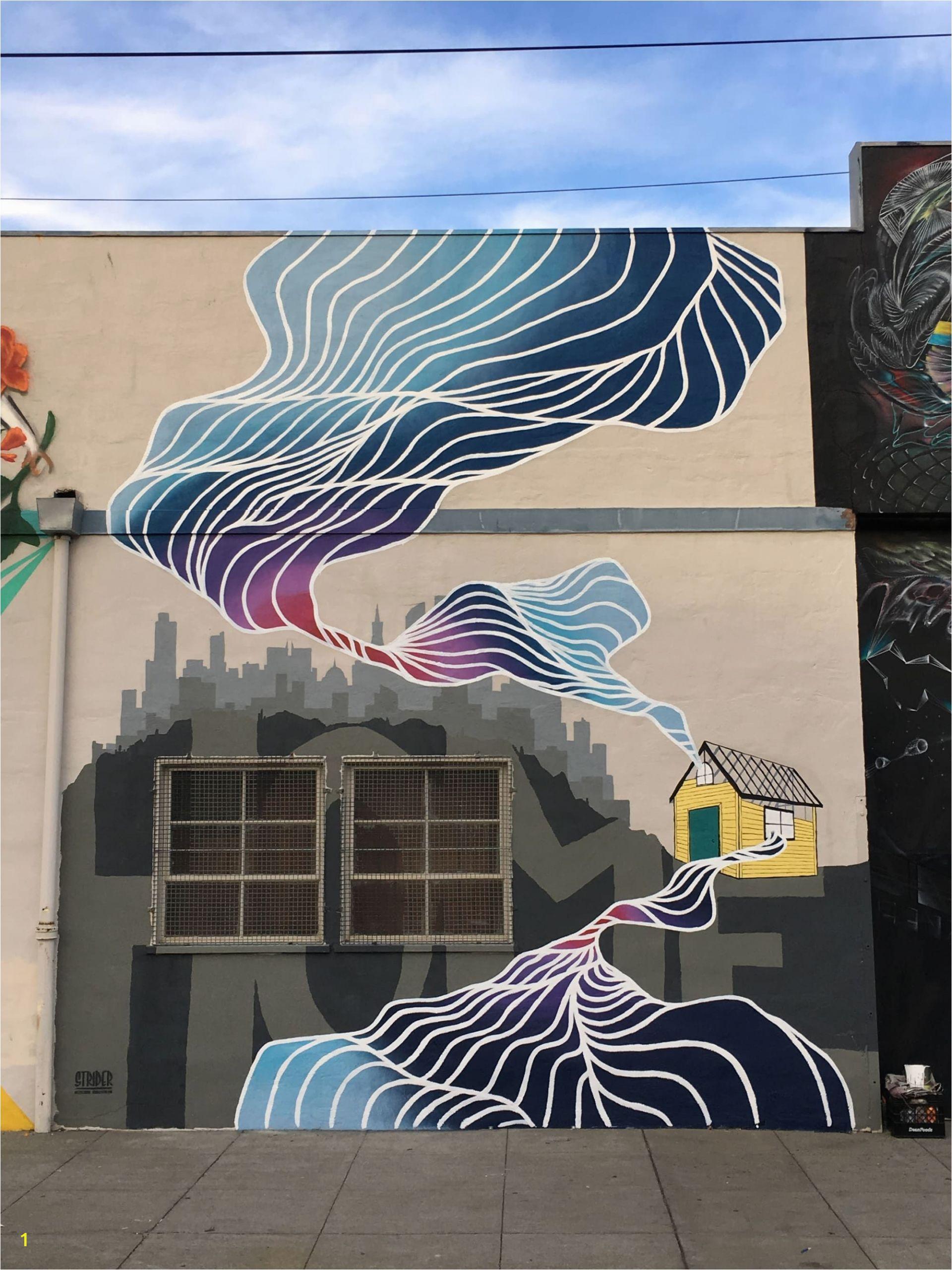 San Francisco Wall Mural Street Murals Building Home In 2019