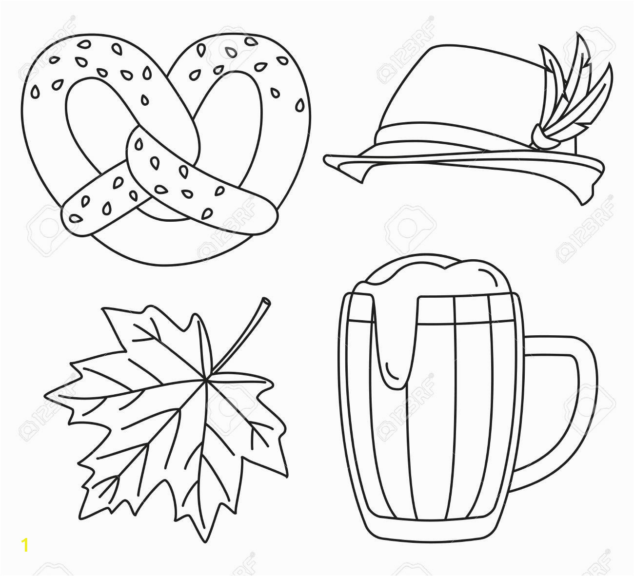 sausage party coloring book fresh line art black and white 4 oktoberfest elements set beer festival of sausage party coloring book