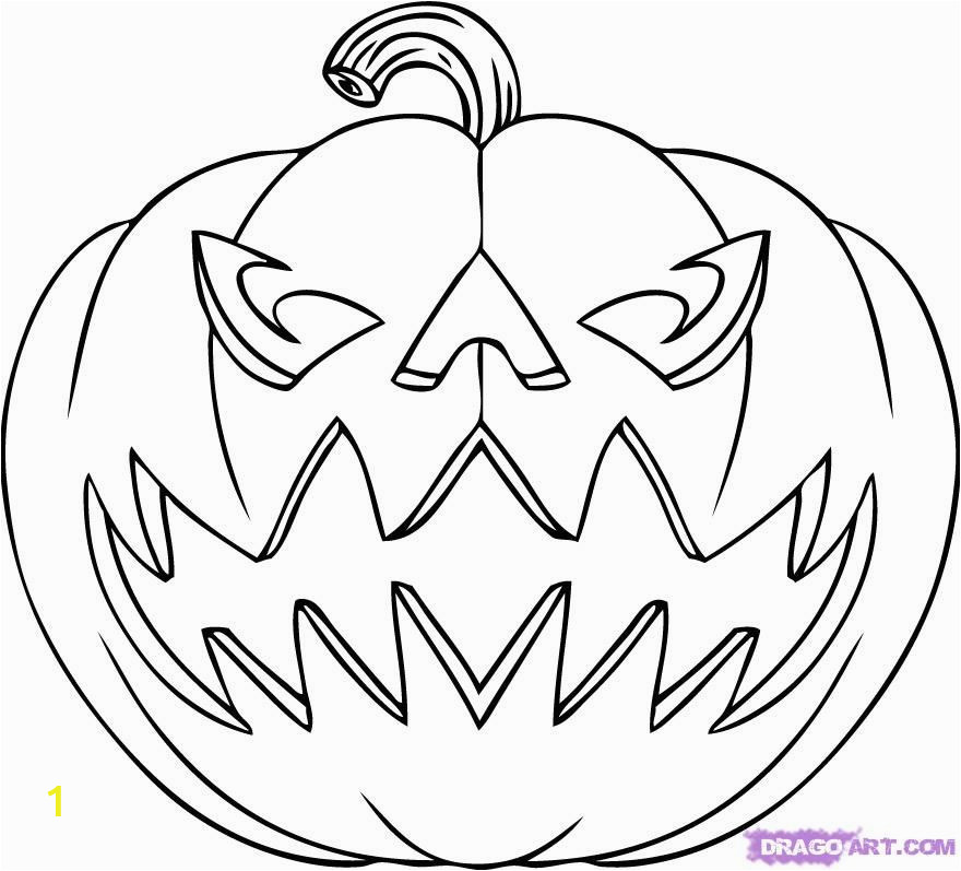 Scary Pumpkin Coloring Pages | divyajanani.org