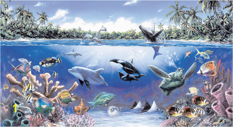Sea Life Murals Photo Wall Mural Free Sea Life Ocean Wall Mural Murals for Kids