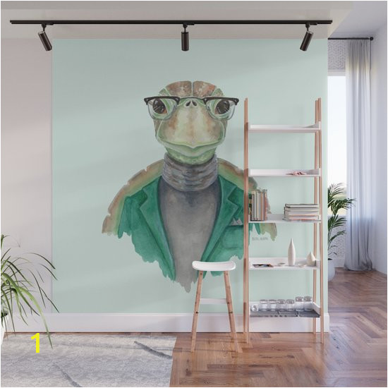 t is for a turtle in a turtleneck watercolor turtle wall murals