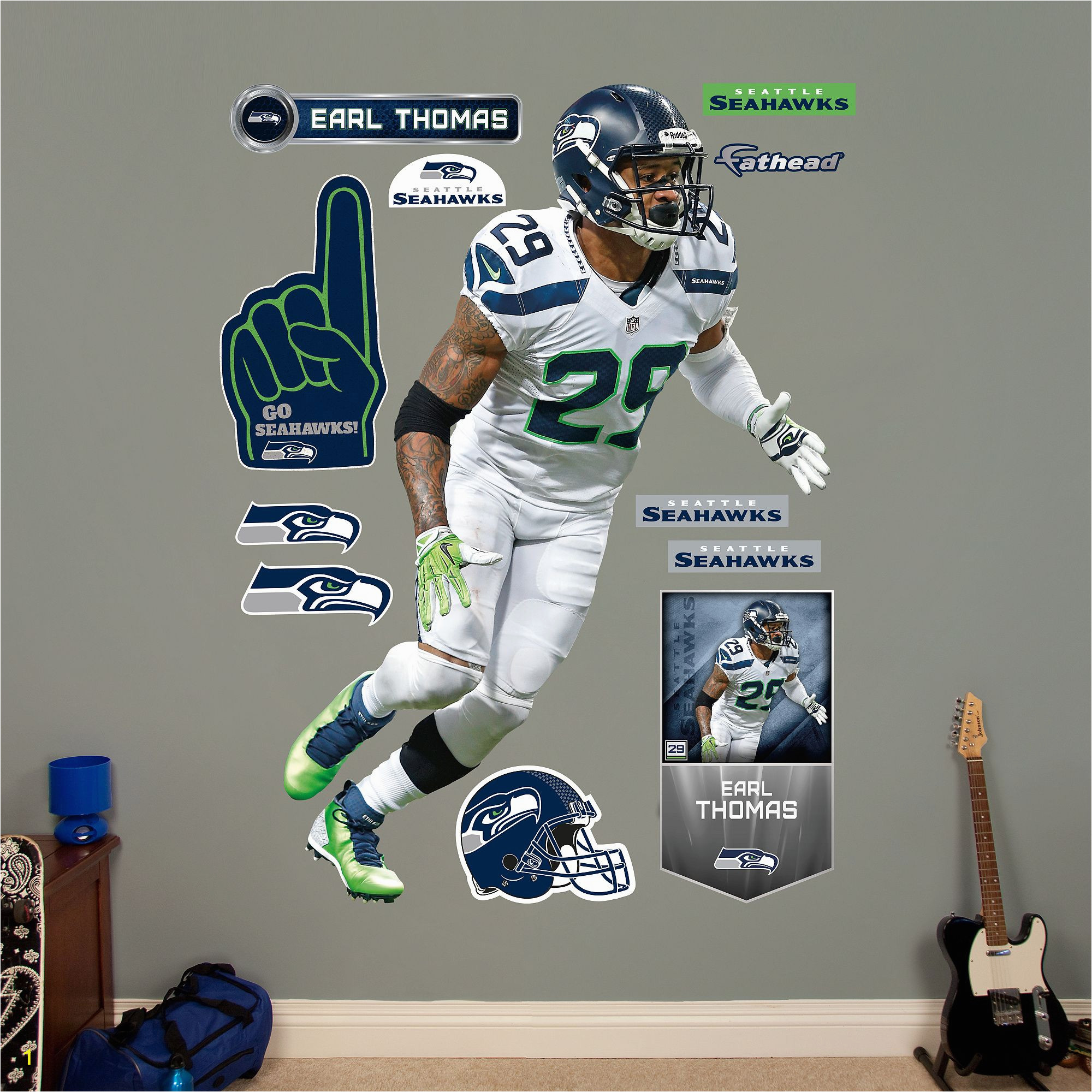 Seattle Seahawks Wall Mural I Want This Fathead