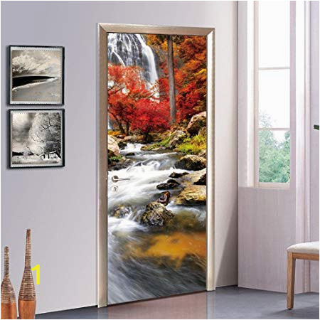 Self Adhesive Wall Murals Uk S Twl E Modern Creative Flowing Door Decals Decorated Living