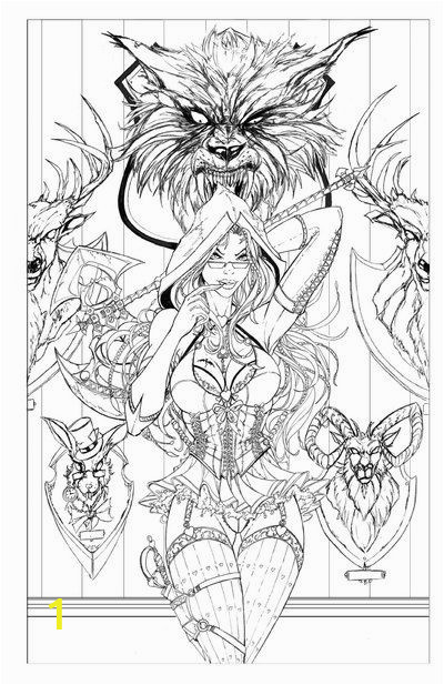 Sexy Adult Coloring Pages Red Riding Hood Lines by Jamietyndallviantart On