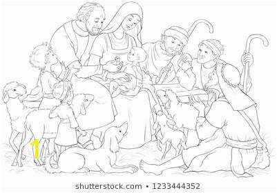 christmas nativity scene holy family 260nw
