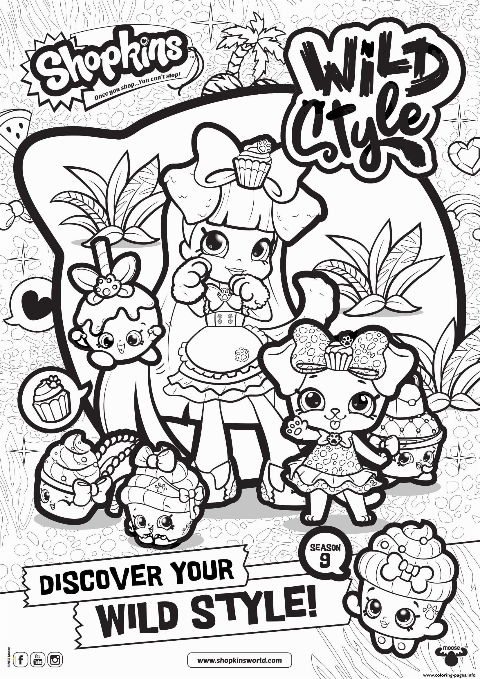 Shopkins Coloring Pages Season 10 Print Shopkins Season 9 Wild Style 8 Coloring Pages