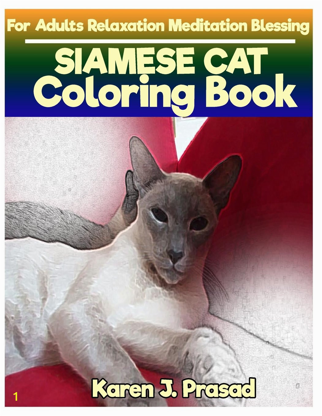 Siamese Cat Coloring Pages Amazon Siamese Cat Coloring Book for Adults Relaxation