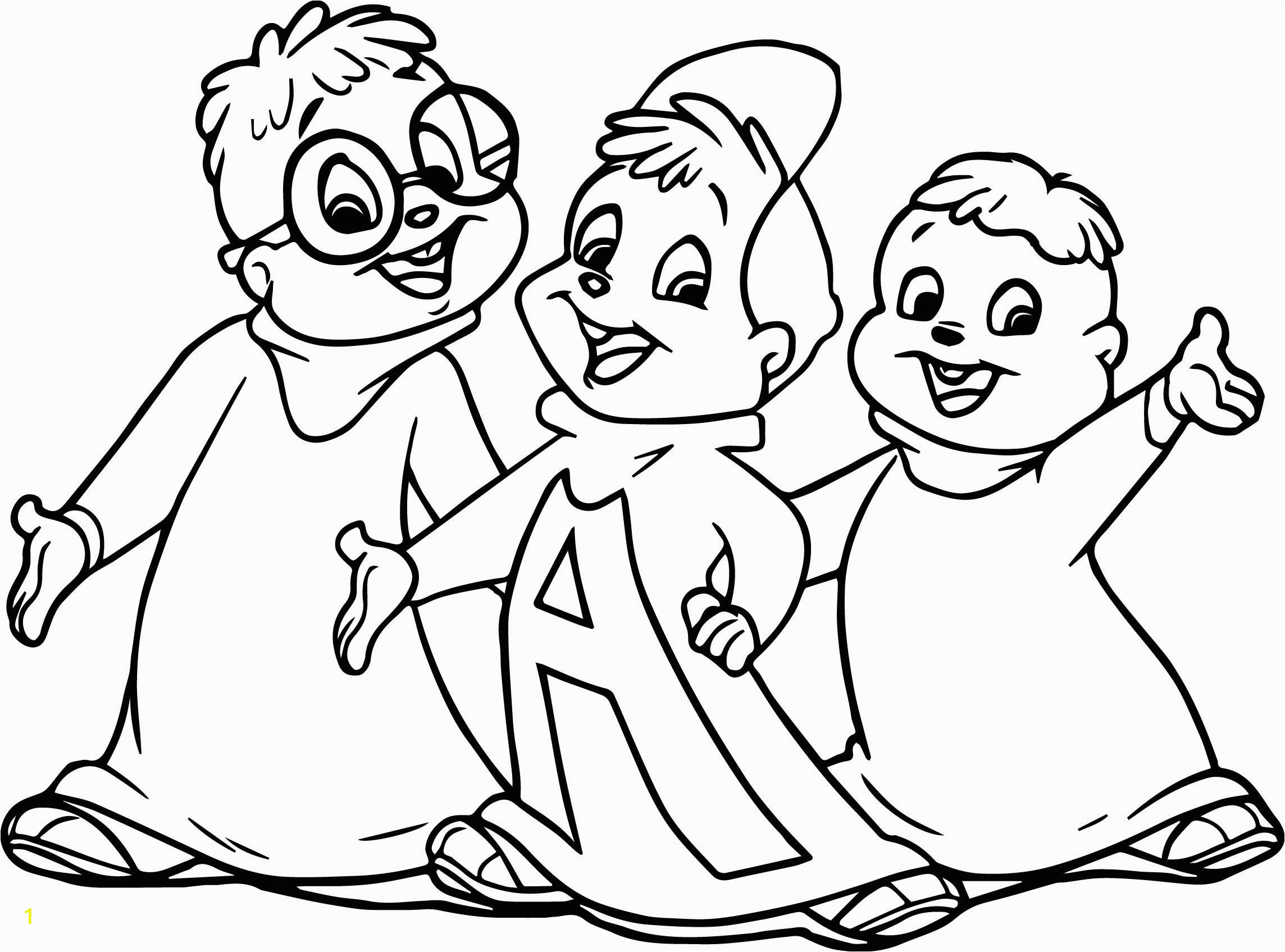 Simon the Chipmunk Coloring Pages How to Draw the Chipmunks Coloring Page