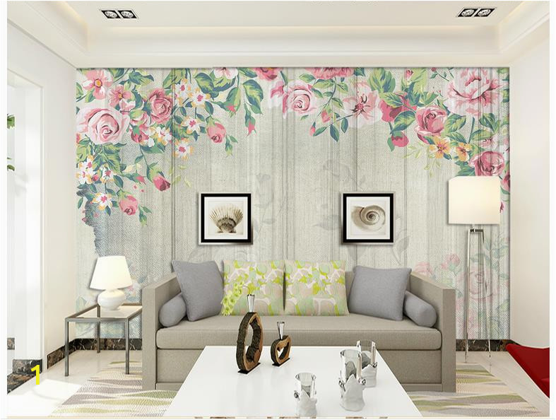 Custom 3d wallpaper for walls 3 d wall mural wallpaper Nordic simple striped hand painted roses