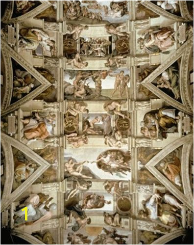 Sistine Chapel Wall Mural Sistine Chapel Ceiling and Lunettes Mural Michelangelo