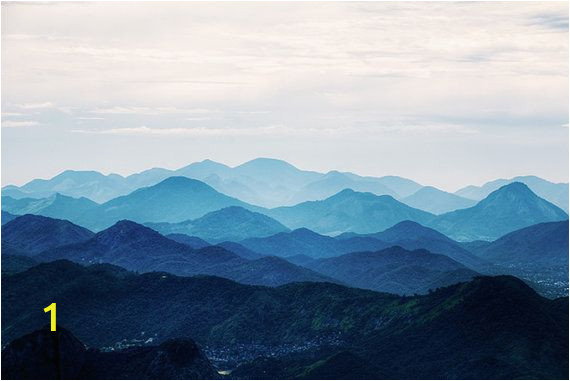 Smoky Mountain Wall Murals Misty Mountain Wallpaper Foggy Mountain Silhouette by