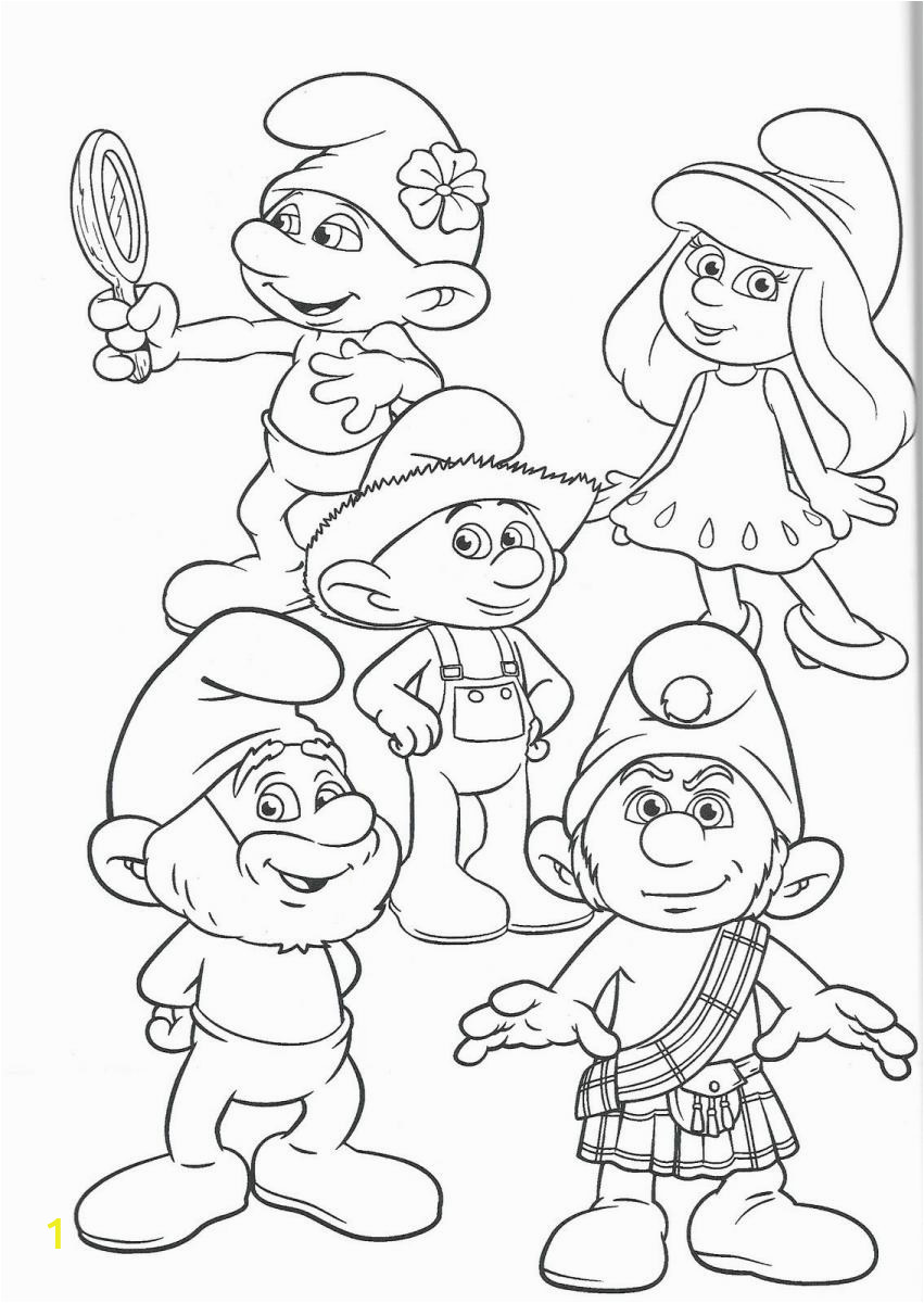 Coloring Pages The Smurfs