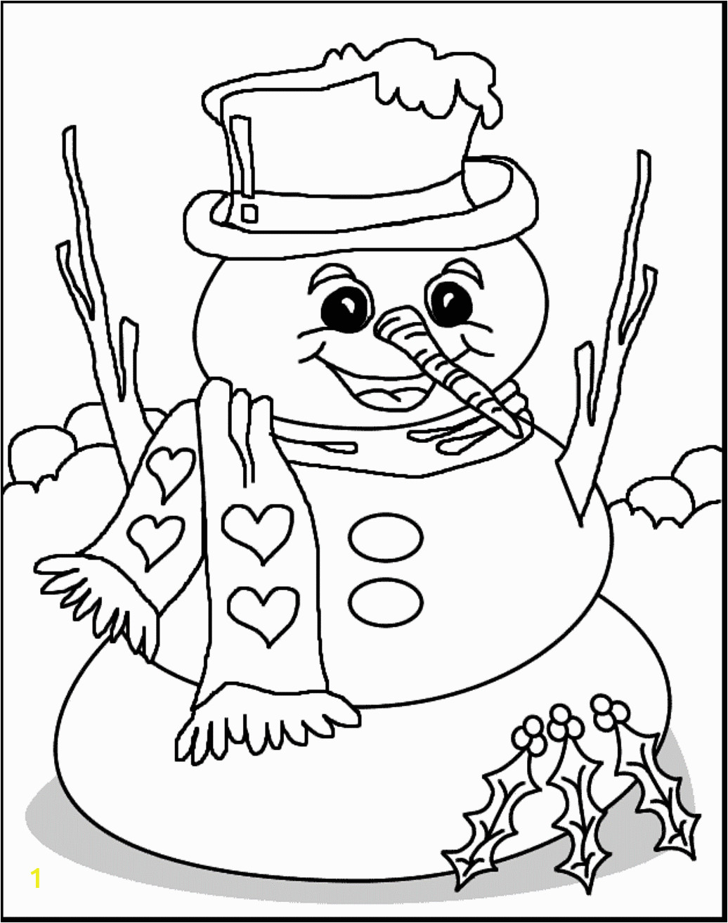Snow Coloring Pages for toddlers Free Free Printable Coloring Pages Winter Scenes