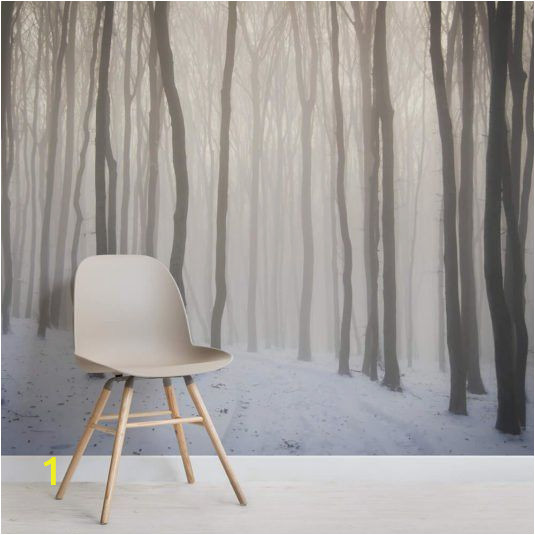 Snow forest Wall Mural Snow forest Wallpaper