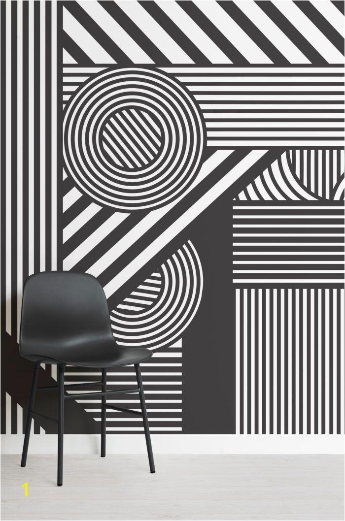 Snow White Wall Mural Geometric Black & White Wallpaper