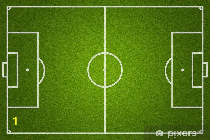 wall murals soccer or football field top view