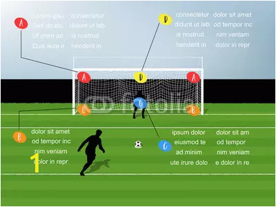 info graphic illustration vector of penalty kick soccer webp